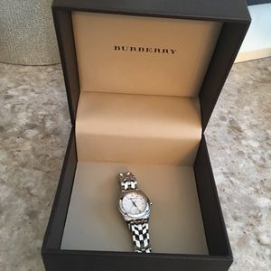 Authentic Burberry stainless watch.